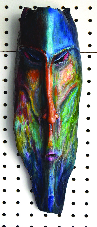 **Elemental**  He is of rock and stone, magma and deep caves, dark subterranean water, the spirit of earth personified.  This mask is sold.